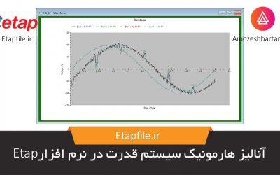 آنالیز هارمونیک سیستم قدرت در نرم افزار Etap